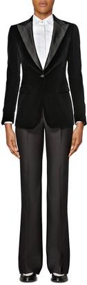 SUISTUDIO Cameron Velvet Tuxedo Jacket