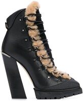 Jimmy Choo Madyn 130mm lace-up boots