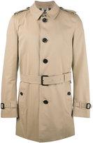 Burberry classic coat - men - Cotton/Viscose - 46