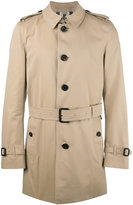 Burberry Tropical gabardine trench coat - men - Cotton/Viscose - 48