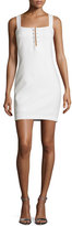 KENDALL + KYLIE Pierced Sleeveless Sheath Dress, Bright White