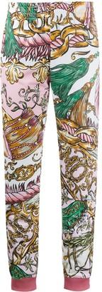 Moschino Chain-Print Slim Track Pants