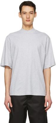 Acne Studios Grey Mock Neck T-Shirt