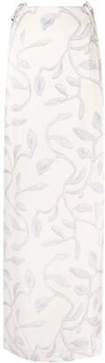 Jacquemus Leaves-Pattern Long Skirt