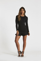 Donna Mizani Long Sleeve Ruffled Mini Dress 9120671940