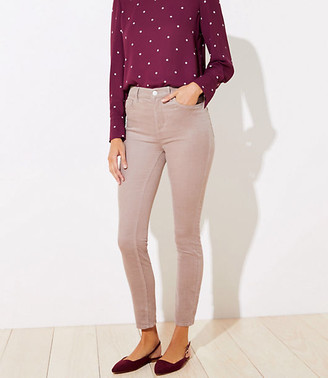 LOFT High Waist Corduroy Skinny Pants in Curvy Fit