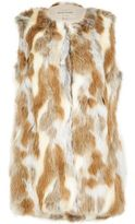 River Island Wolight Brown Patchwork Faux Fur Gilet