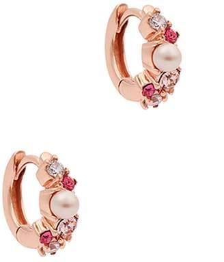 Olivia Burton Under The Sea Mini Rose Gold-plated Hoop Earrings