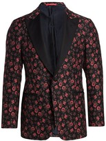 Isaia Classic-Fit Floral Jacquard Dinner Jacket