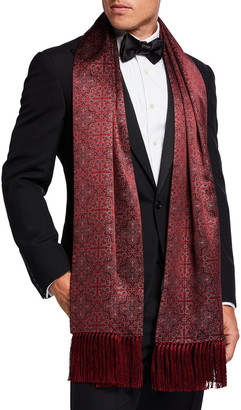 Stefano Ricci Men's Patterned Cashmere Scarf