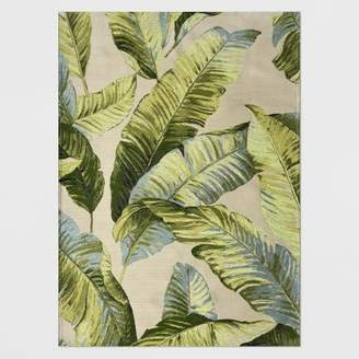 Threshold Vacation Tropical Outdoor Rug Green