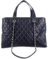 Chanel Quilted Shopping Tote