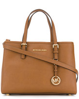 Michael Kors tag plaque square tote