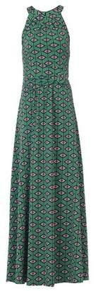 Dorothy Perkins Womens *Jolie Moi Green Geometric Print Halter Neck Maxi Dress, Green
