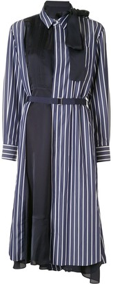 Sacai Contrast-Panel Shirt Dress
