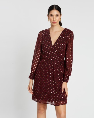 Dorothy Perkins Foil Printed Wrap Mini Dress
