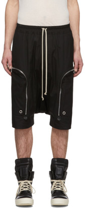 Rick Owens Black Pods Cargo Shorts