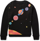 The Elder Statesman - Solar System-intarsia Cashmere Sweater