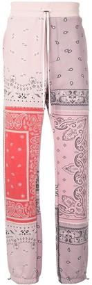 Amiri Paisley Print Track Trousers