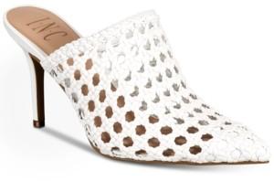 INC International Concepts Inc Women's Celestia Woven Mules, Created for Macy's Women's Shoes