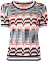 Missoni zigzag pattern knitted T-shirt