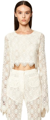 Redemption Macrame Lace Crop Top