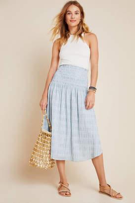 Maeve Karyn Smocked Midi Skirt