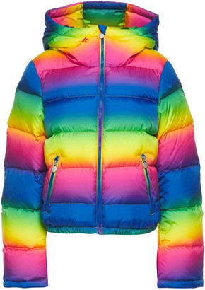 Perfect Moment Polar Flare Quilted Degrade Shell Down Ski Jacket
