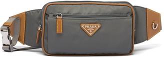Prada logo plaque belt bag