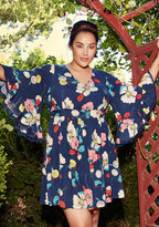 Through the Bluebells Floral Dress in Retro Blossom in M
