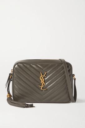 Saint Laurent Lou Quilted Leather Shoulder Bag - Dark gray