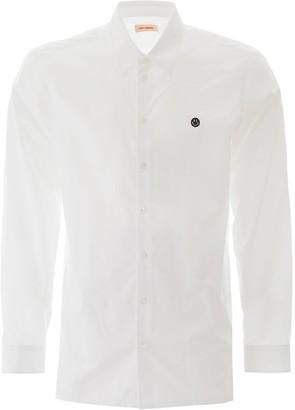 Raf Simons SHIRT WITH SMILEY EMBROIDERY 50 White Cotton
