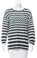 M Missoni Chevron Patterned Open Knit Sweater