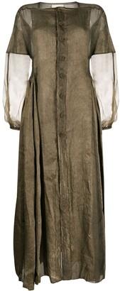 PHAEDO STUDIOS Sheer-Panel Long Dress