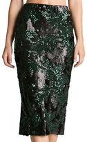 Dress the Population Sasha Two-Toned Sequin Midi Skirt
