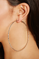 Forever 21 FOREVER 21+ Oversized Etched Hoop Earrings