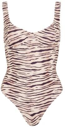 Faithfull The Brand Mona Tiger Print Swimsuit