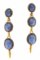 House Of Harlow Blue Star Drop Earrings