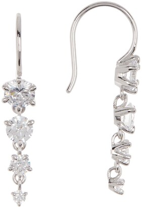 Nadri Graduated CZ Drop Earrings