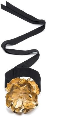 Natori Gold Plated Brass Medium Peony Choker