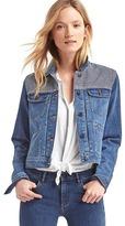Gap Railroad stripe short denim jacket