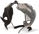 Gucci Antiqued Silver-plated Crystal Headband