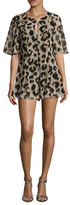 BCBGeneration Printed Cut-Out Romper