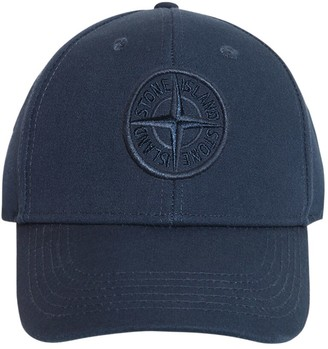 Stone Island Logo Embroidered Cotton Twill Hat