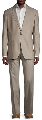 HUGO BOSS Stretch Tailoring Huge6/Genius5 Regular-Fit Wool Suit