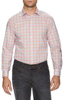 James Tattersall Checkered Spread Collar Dress Shirt