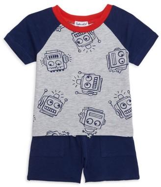 Splendid Baby Boy's 2-Piece Robot-Print Top & Shorts Set