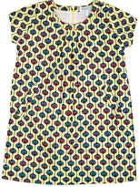 Baby CZ GEOMETRIC-PRINT POPLIN CAP-SLEEVE DRESS