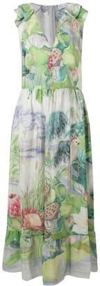 RED Valentino floral print maxi dress