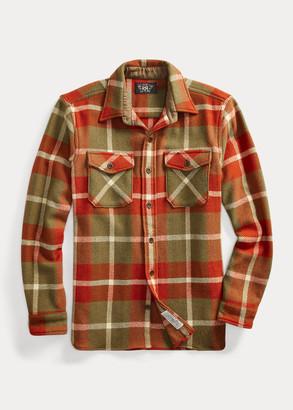 Ralph Lauren Suede-Elbow Wool Overshirt